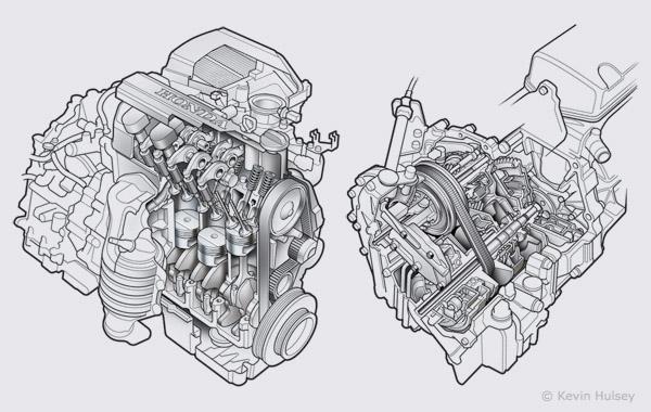 car engine and transmission diagram
