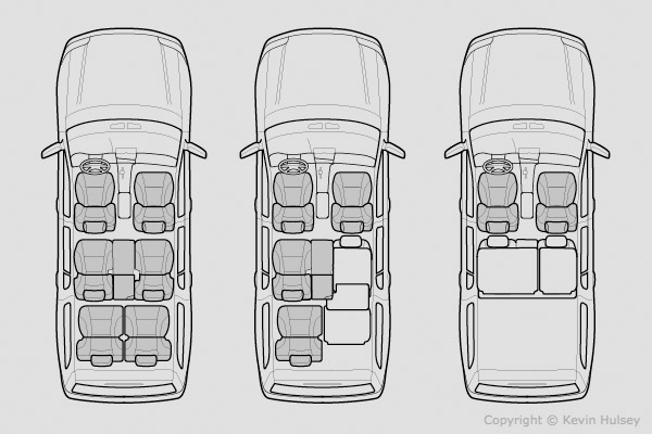 Car line drawings and black-and-white line-art diagrams