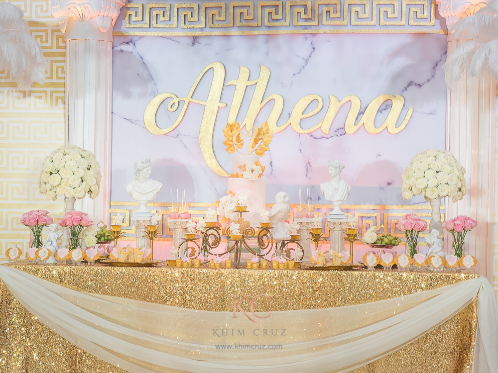Athena S Grecian Theme Baptismal Khim Cruz Wedding And