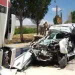 سيارة الرابيد كما بدت بعد الحادث