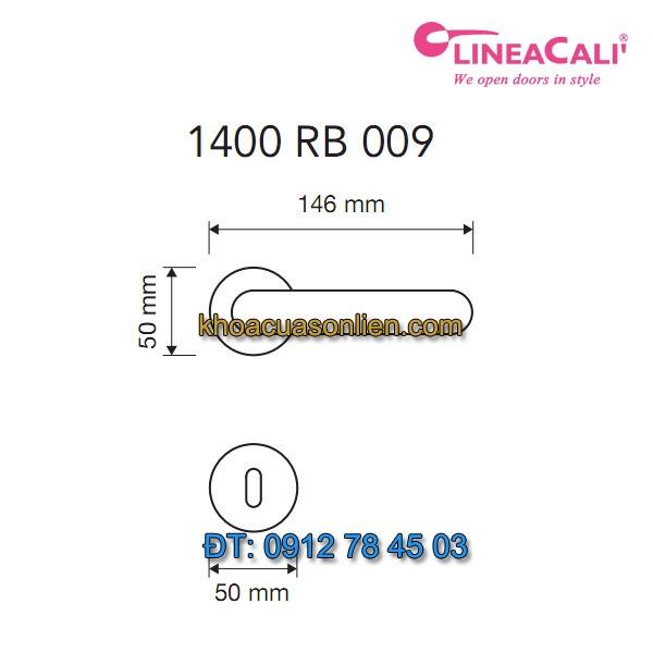 Báo giá khoá cửa thông phòng tay gạt Sissi 1400-RB-009 của Linea Calì