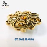 Nơi bán mẫu Núm cửa tủ đính pha lê Swarovski, mạ vàng 24K kiểu cổ điển của Giusti Ý xịn, nhập khẩu chính hãng giá rẻ tại Hà Nội