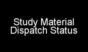 IGNOU Study Material Dispatch Status For All Courses