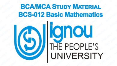 BCS-012 Study Material IGNOU BCA MCA Basic Maths