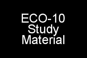 ECO-10 Study Material Elements of Costing (In Single PDF)