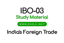 IBO-03 StudyQ Material India's Foreign Trade IGNOU MCOM PGDIBO