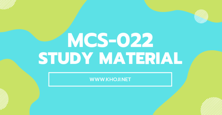 MCS-022 Study Material For IGNOU BCA MCA