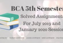 IGNOU BCA 5th Semester Solved Assignments 2019-2020