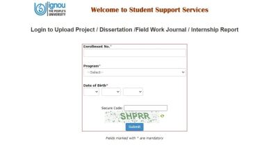 IGNOU Online Project Submission Login