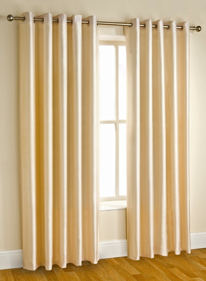 how do you put eyelet curtains onto a pole curtain. Black Bedroom Furniture Sets. Home Design Ideas
