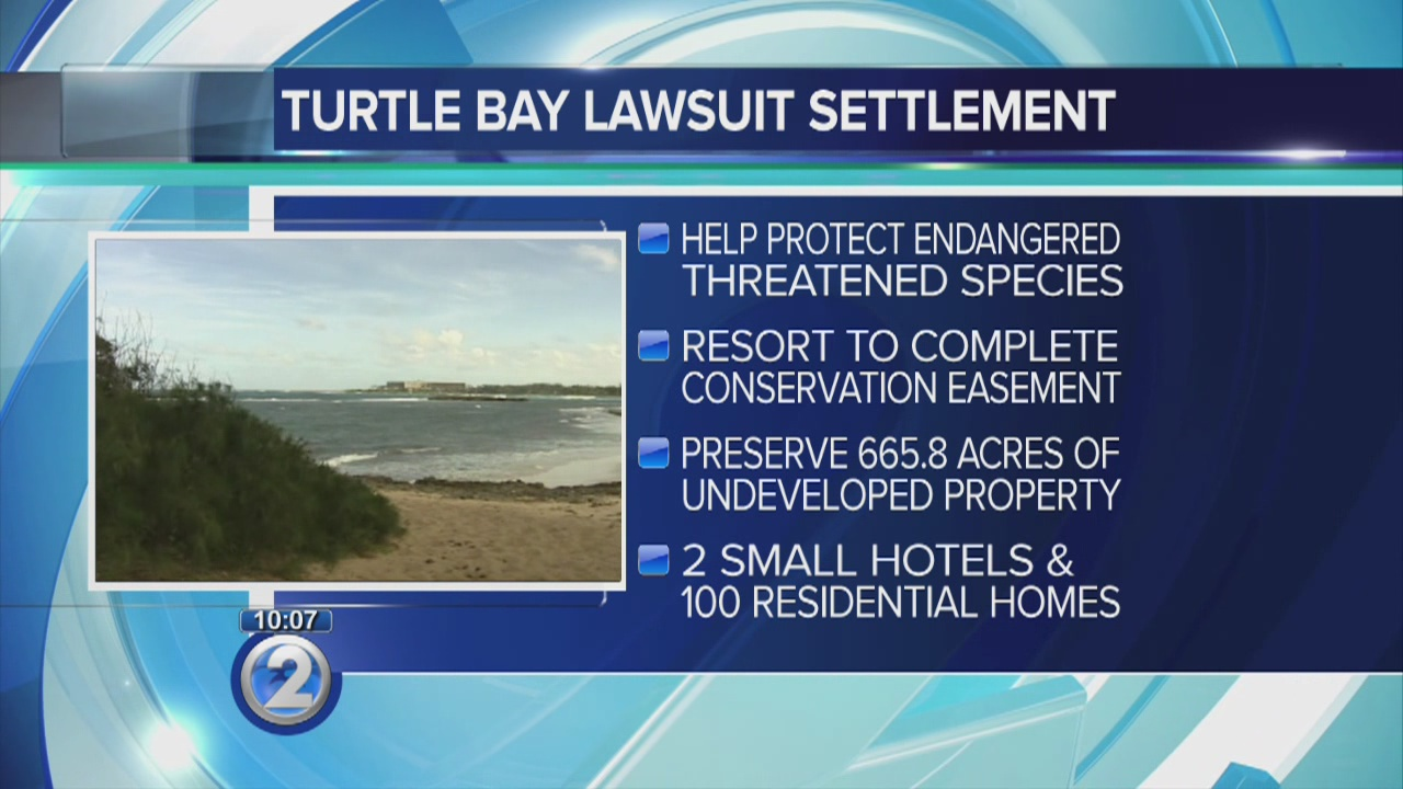 Turtle Bay Resort settles lawsuit, moves forward with conservation plans