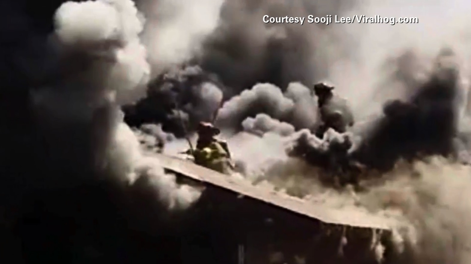 firefighter falls through roof_86287