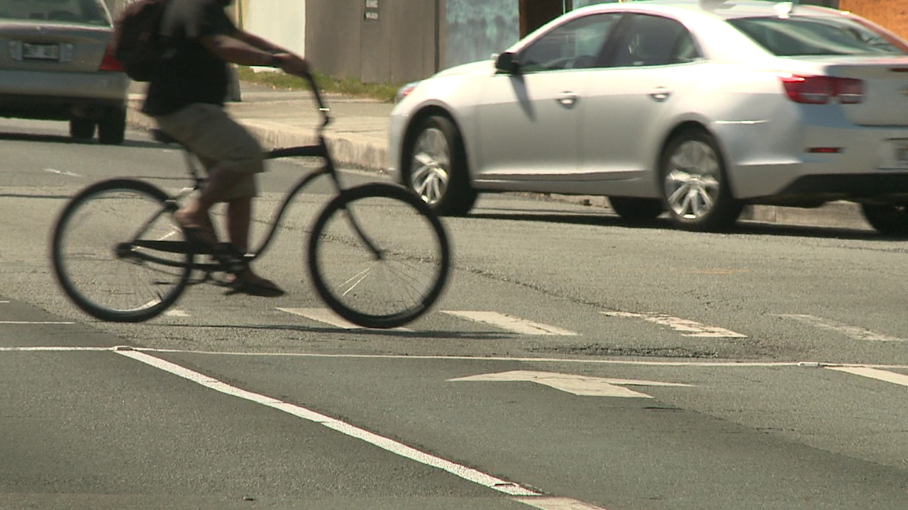 bicyclist in crosswalk_87306