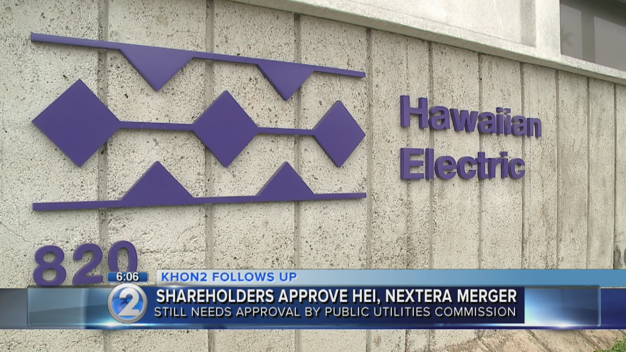 Hawaiian Electric shareholders approve merger with NextEra
