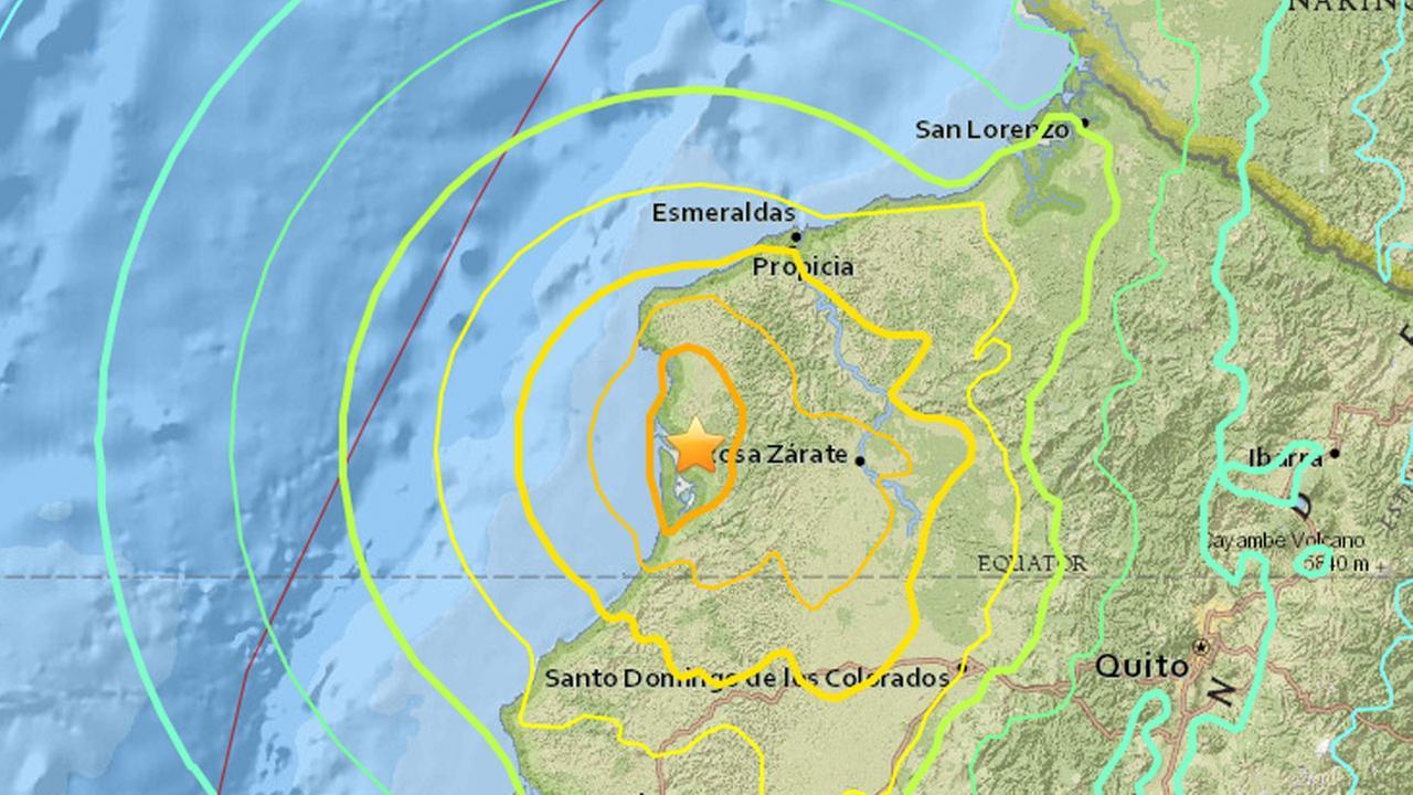 ecuador earthquake map_152789