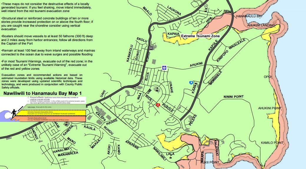 kauai tsunami evacuation map_153702