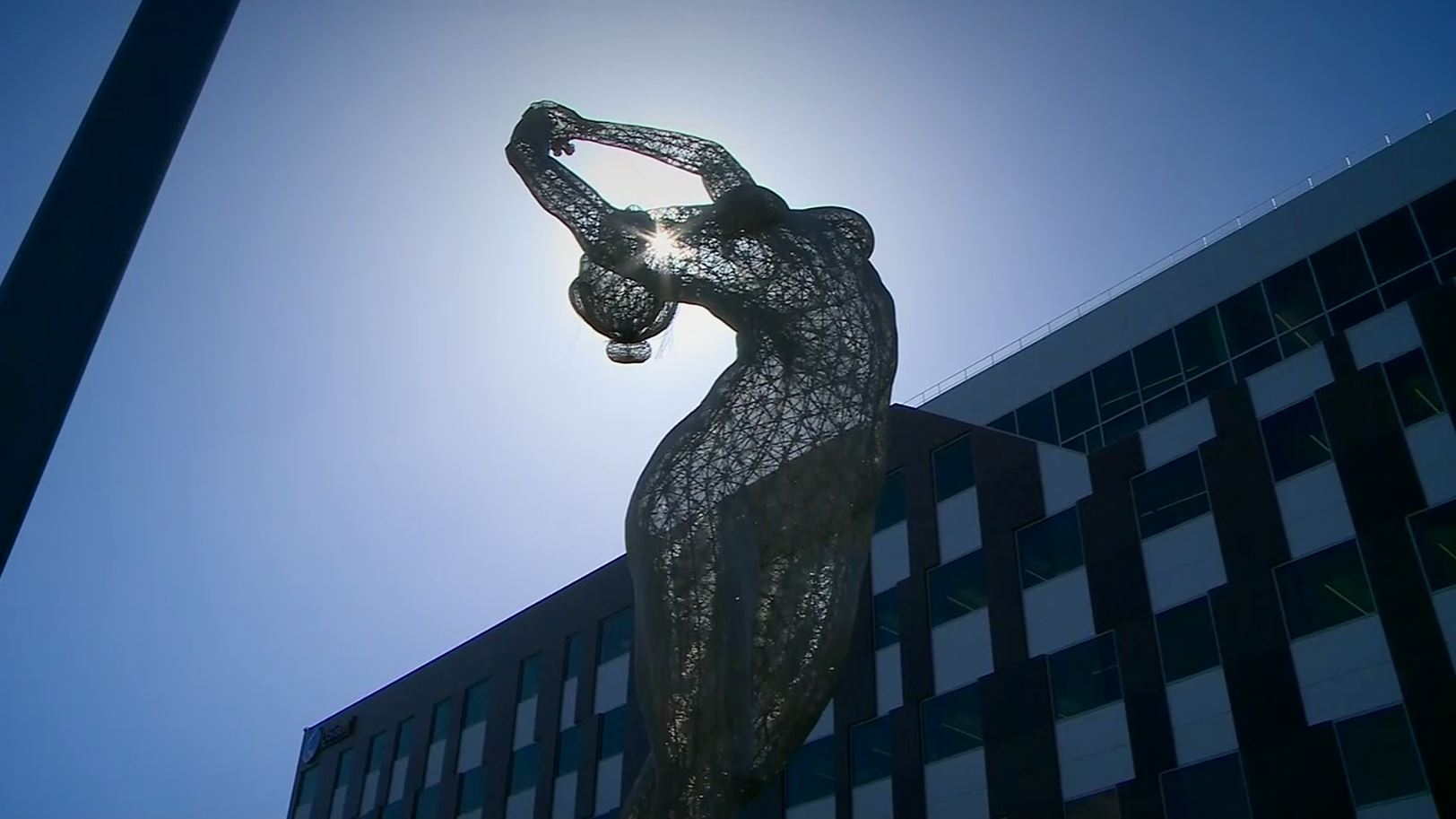 Controversy around 55-foot-tall nude woman sculpture in