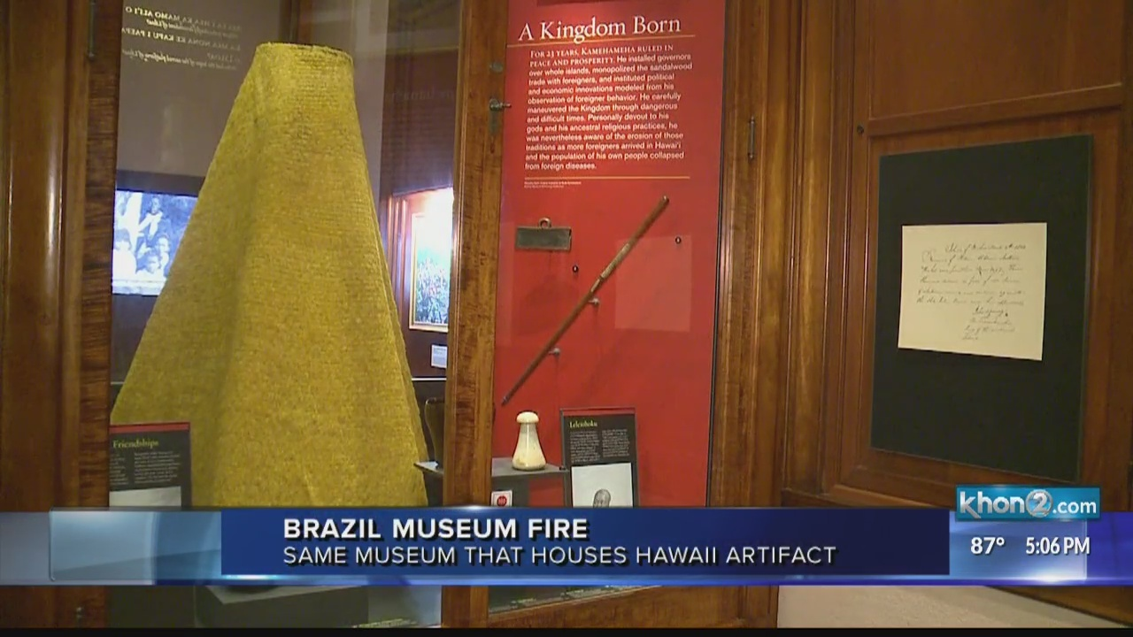 History goes up in flames as museum housing ancient Hawaii artifact catches fire in Brazil