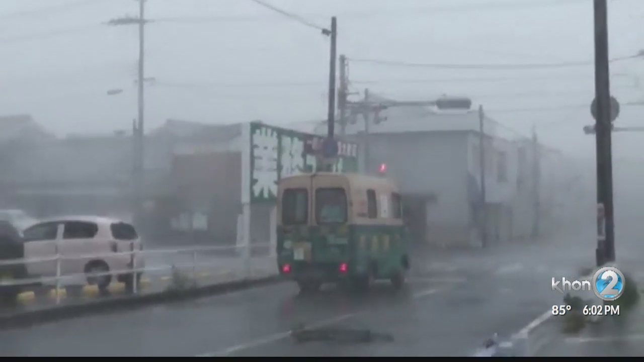 Kelly Simek describes being stranded at Kansai airport when Typhoon Jebi hit Japan