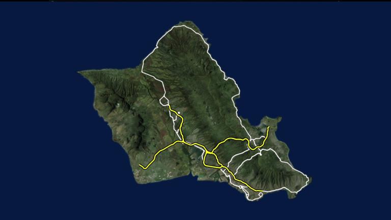 oahu generic island graphic