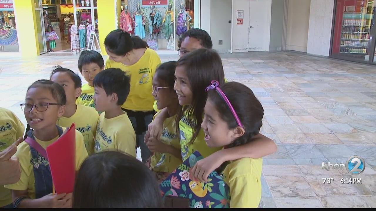 Maemae Elementary students donate to Laulima Giving Program