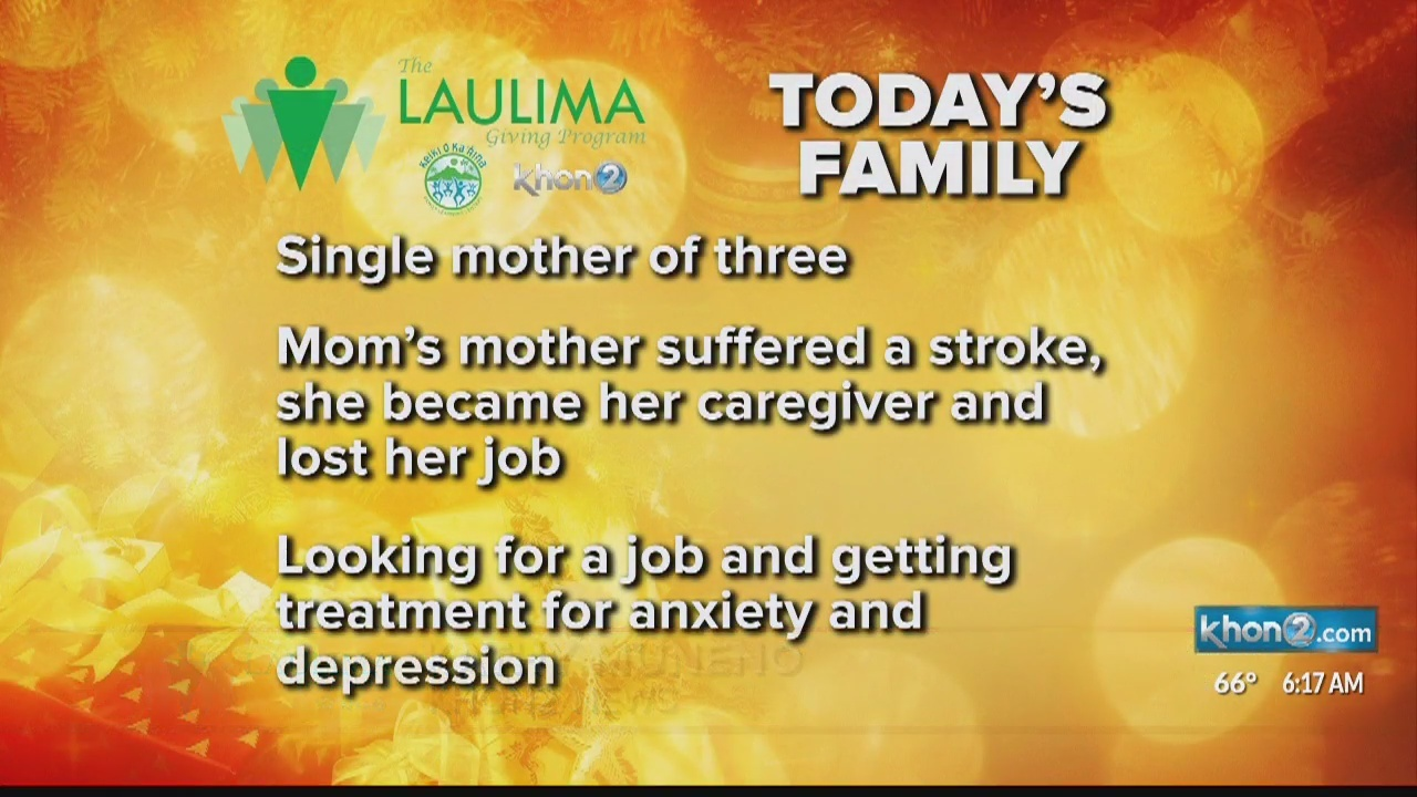 Single mother, who became a caregiver to her own mother this year
