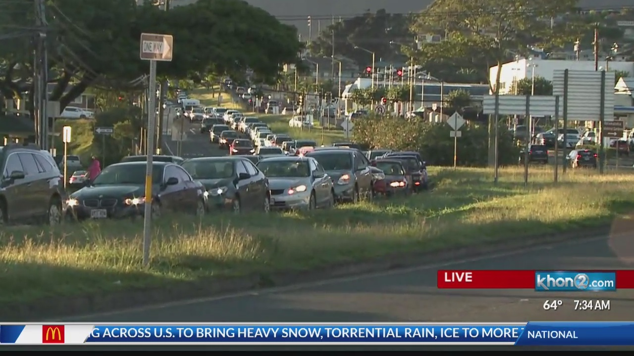 Expect heavy morning traffic for several days