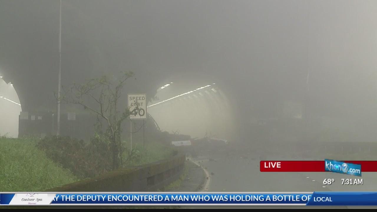 Landslide damages could close Pali Highway for several days