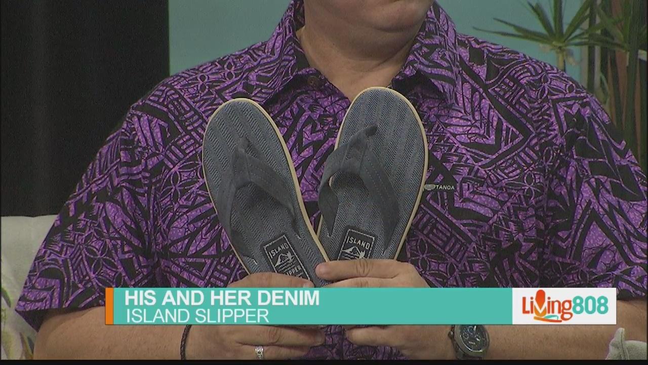 Island Slipper: His and Her Denim