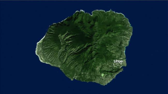 kauai island map generic