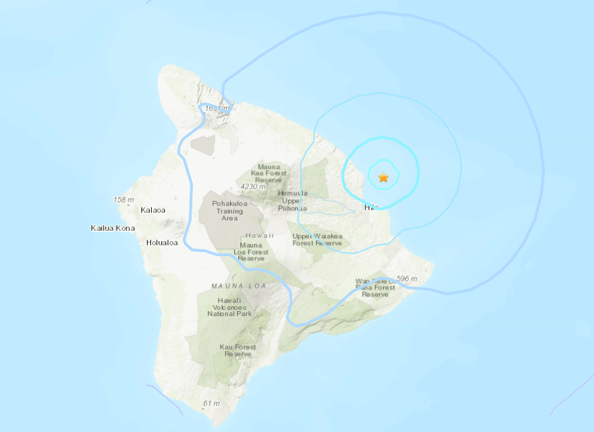 No tsunami threat after 4 5 magnitude earthquake hits Hawaii Island