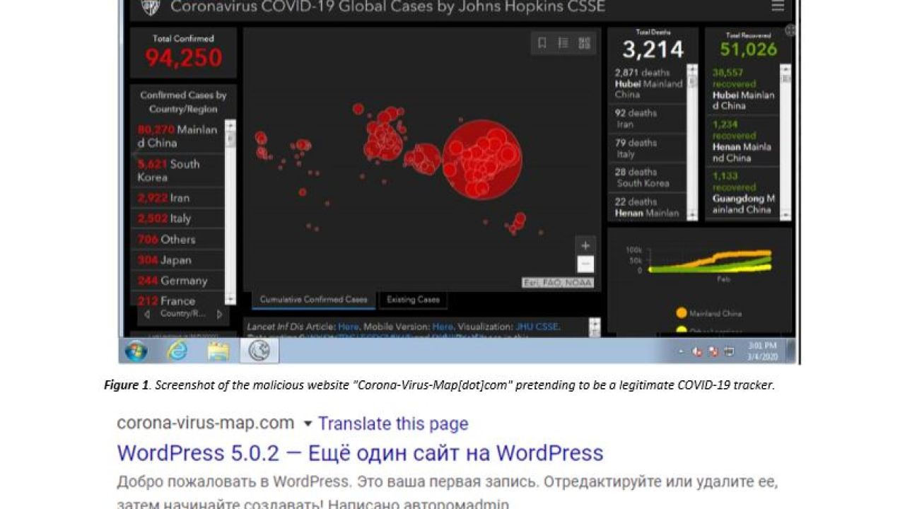Fake online coronavirus map infects computers with malware | KHON2