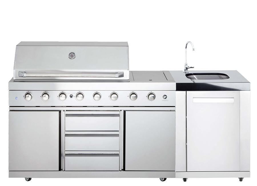 allgrill bbq outdoor kitchen w sink cabinet 111810 sinkm