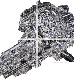acura rl engine cutaway [ 1000 x 870 Pixel ]