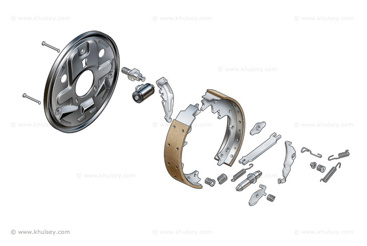 Stock Images of Car Engines Components, Suspensions