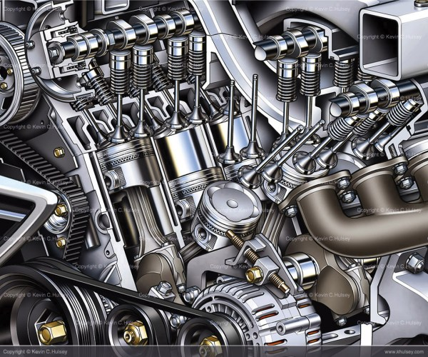 Automotive Engine Cutaway