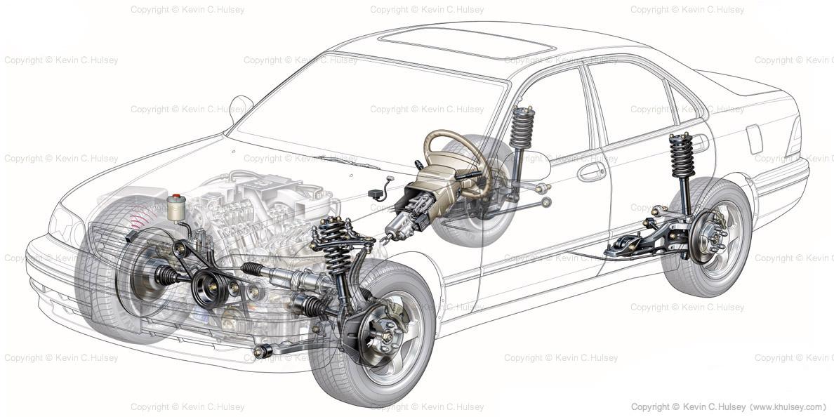 automotive lighting system wiring diagram 12s generic car cutaway sedan suspension