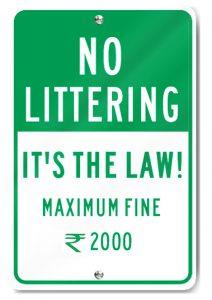 19. No Littering fine EN