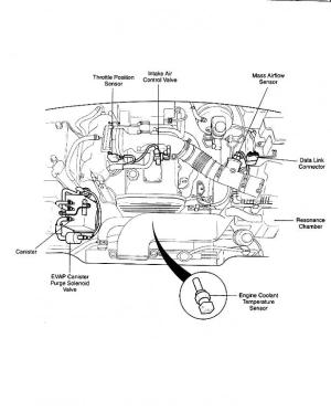 Engine diagram showing throttle body? 2000 Sportage  Kia