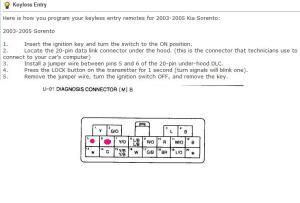 2003 Sorento Central Locking problems  Kia Forum