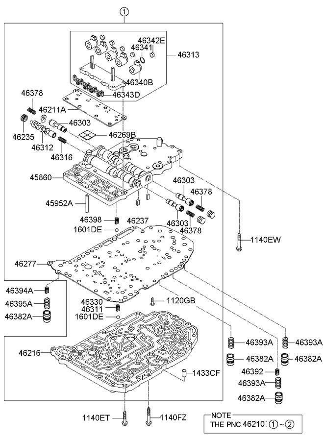 2006 Kia Spectra Transmission Wiring Harness : 44 Wiring