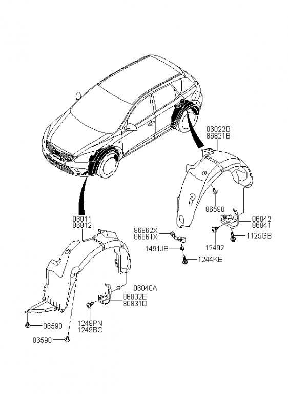 2011 Kia Soul Parts Diagram. Kia. Auto Wiring Diagram
