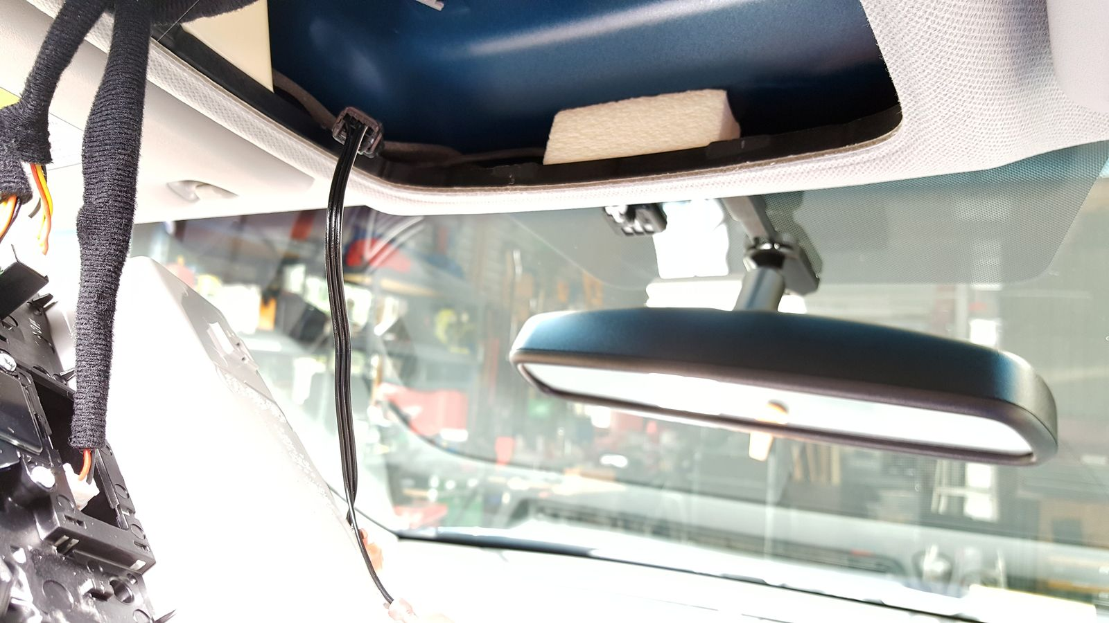 hight resolution of  replacing rearview mirror with homelink and compass 8 wiring left jpg