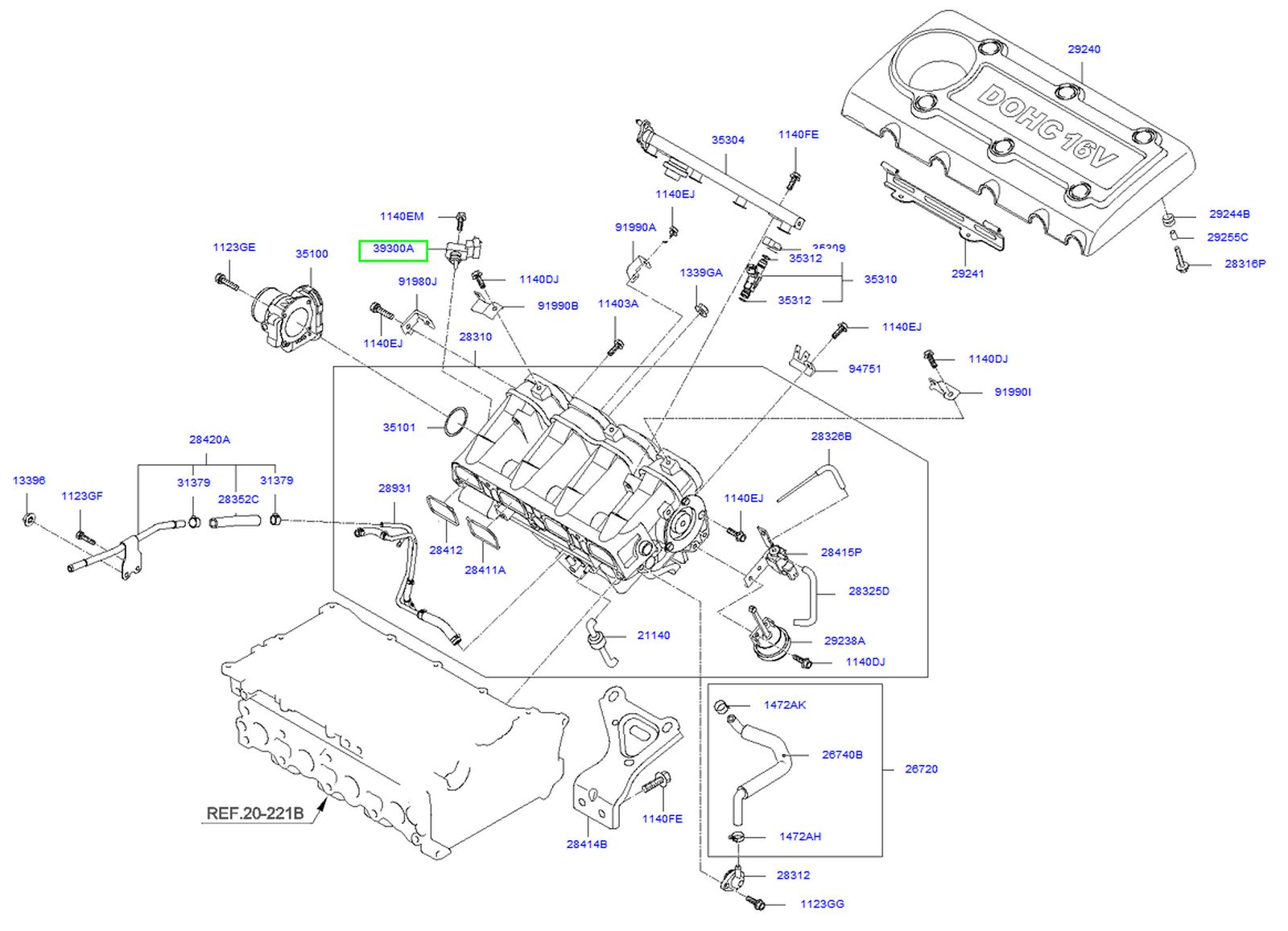 2003 Kium Sorento Lx Engine Diagram