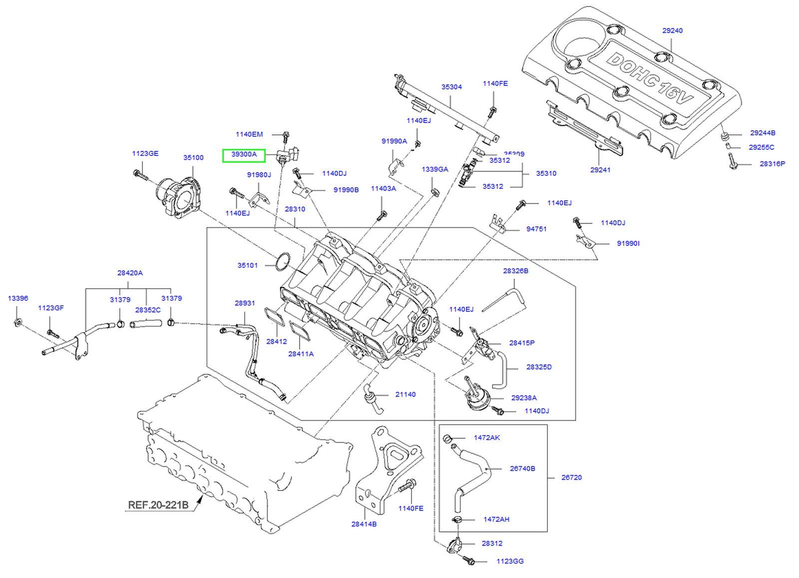 2003 Kium Sorento Lx Engine Diagram