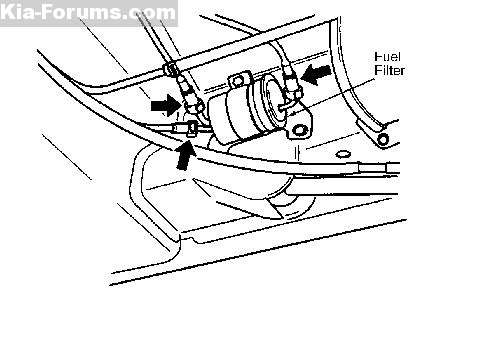 2003 Kia Spectra Fuel Filter Location