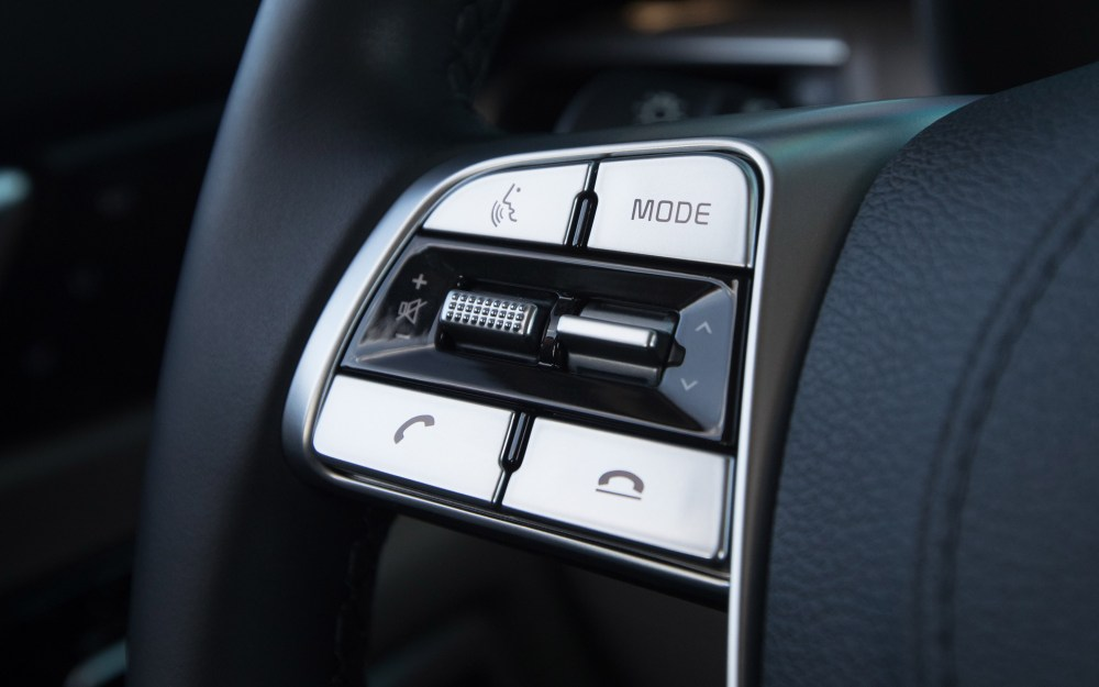 medium resolution of steering wheel mounted audio hands free phone and cruise control buttons