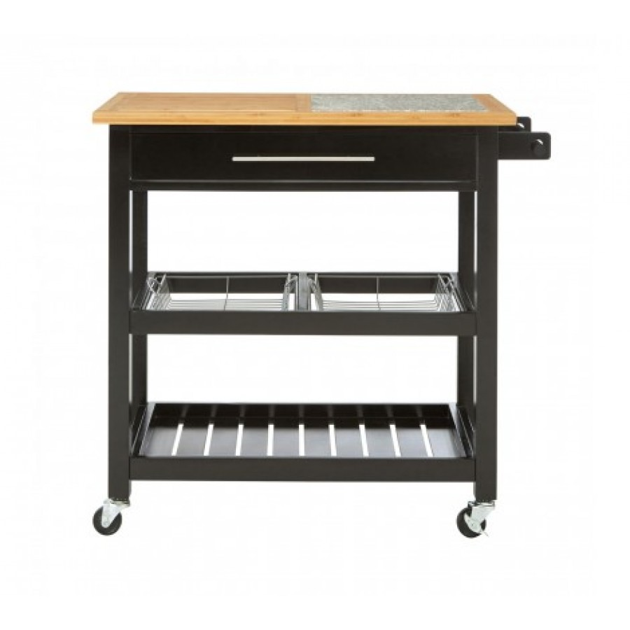 kitchen trolley small kitchens designs miller black