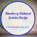 Blueberry Oatmeal Cookies kianaturally