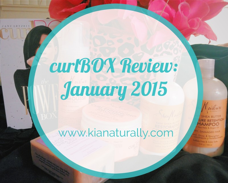 curlBOX Review January 2015 kianaturally